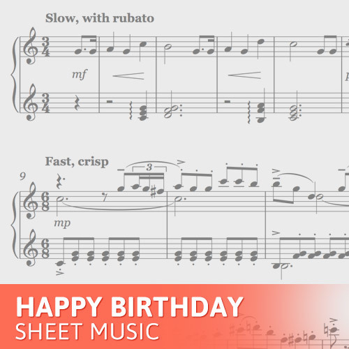 Happy Birthday Piano Sheet Music Free Pdf